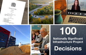 Press release: 100th Nationally Significant Infrastructure Project decision reached