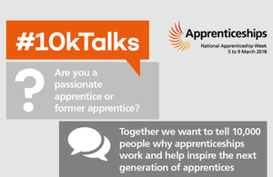 Thousands of students set to join #10kTalks for National Apprenticeship Week 2018