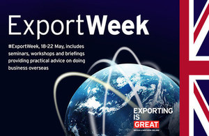 Export Week events to start 18 May across the UK