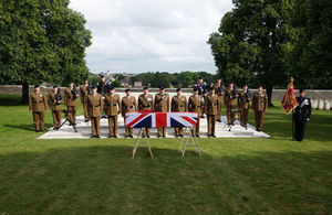 Four unknown soldiers killed during WW1 are laid to rest with full military honours