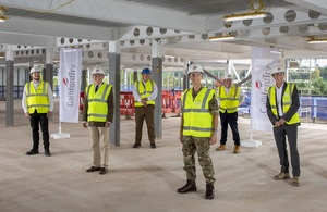 Press release: Royal Marines accommodation in Lympstone reaches milestone