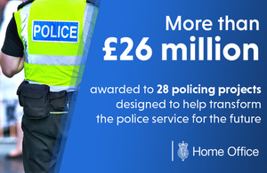Home Secretary grants further police transformation funding