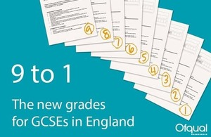 New GCSE 9 to 1 grades coming soon