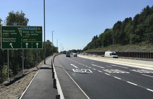 Press release: The long and widened road: A500 work finishes ahead of schedule