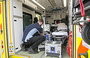 Defence scientists trial innovation to slash ambulance cleaning time
