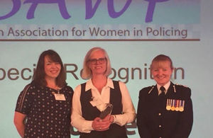 Special Recognition for Ministry of Defence Police Inspector Anne Turner