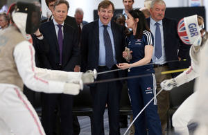 Culture Secretary opens new British Fencing Elite Training Centre