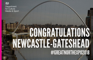 Newcastle Gateshead chosen to host Great Exhibition of the North