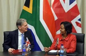 Chancellor deepens economic ties with key markets in South Africa