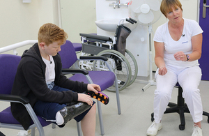 Children given sports prostheses to help them get active