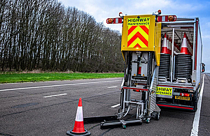 Press release: Highways England unveils pioneering automated cone laying vehicles