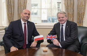 UK and Poland defence ministers hold their first meeting