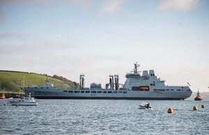 New ship to support the aircraft carriers arrives in UK