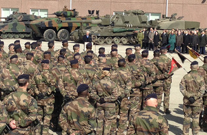 Defence Secretary meets UK troops on NATO deployment