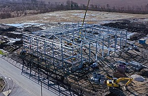 Steelwork complete on UKAEA Yorkshire building