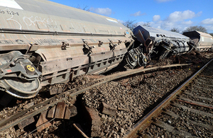Freight train derailment, East Somerset Junction