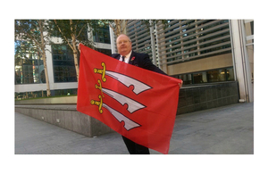 Essex flag flies in the heart of government