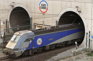 Chief Secretary announces latest step in world leading power infrastructure project at Eurotunnel