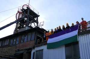 Coal Authority flying the flag for women's suffrage
