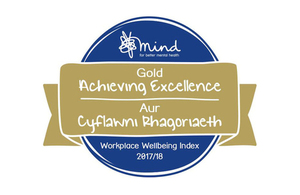 Companies House awarded Gold in Mind's Workplace Wellbeing Index