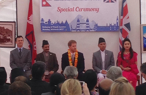 Defence Minister and Prince Harry celebrate 200 year relationship with Nepal