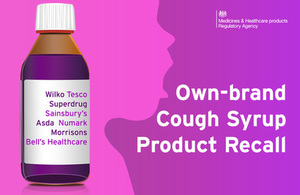 Precautionary Recall   Children's Blackcurrant Cough Syrup