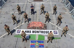 Royal Navy seizes over 450kg in the largest methamphetamine drug bust in the Middle East