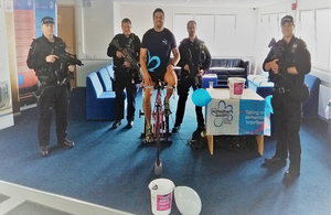 Hinkley Point officers cycle nearly 1,700 miles for Alzheimer's Society