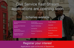 Register your interest for Fast Stream 2017