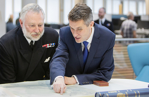 UK Hydrographic Office welcomes Secretary of State for Defence to Taunton