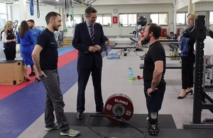 Defence Secretary highlights importance of partnering with charities during visit to military recovery centre