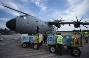 UK aid arrives: Vital relief lands in Indonesia