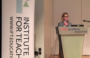 Justine Greening launches new Institute for Teaching