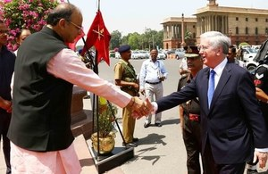 Defence Secretary agrees closer cooperation with India