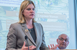 How do we reach gender equality, Justine Greening asks Manchester students