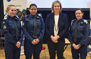 Home Secretary visits Greenwich volunteer police cadets