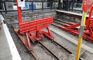 Buffer stop collision at Kings Cross