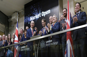 Defence Minister welcomes London Stock Exchange's commitment to Armed Forces