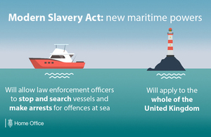 New powers to tackle slavery at sea