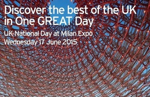 UK National Day celebrated at Milan Expo 2015