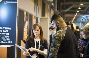 Apprenticeship success at the skills show