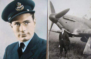 Grave of courageous World War 2 pilot has been rededicated 77 years after his death