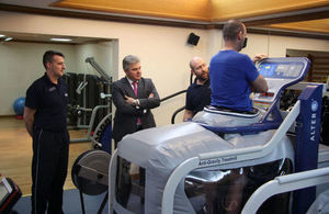 Minister for Policing and the Fire Service visits the Police Rehabilitation Centre