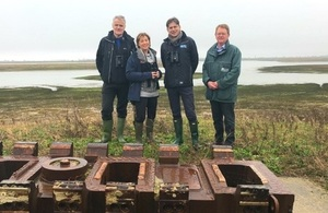 Environment Minister Rebecca Pow visits Wallasea Island