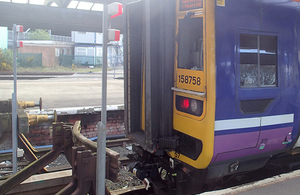 Buffer stop collision, Preston
