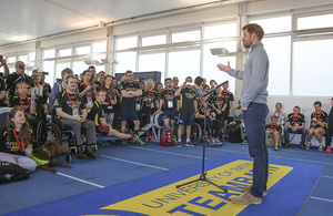 Prince Harry meets Invictus Games hopefuls at UK trials