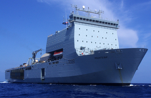 Royal Fleet Auxiliary (RFA) Mounts Bay in Bermuda