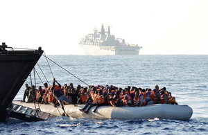 UK tackles deadly migration crisis in Central Mediterranean