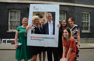 Prime Minister and Education Secretary host teachers at Number 10