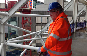 Transport Secretary visited a major infrastructure investment project in Birmingham